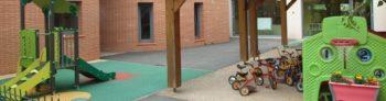 Cour interieur de la M.A.J.E. espace enfant